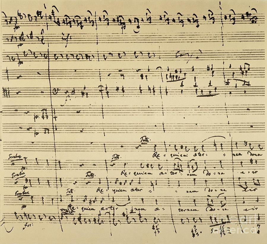 1791 Photograph - Mozart: Requiem Excerpt by Granger