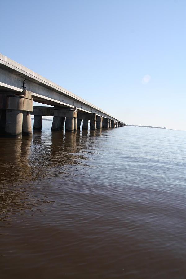 Water Photograph - Mprints - Railroad Bridge by M  Stuart