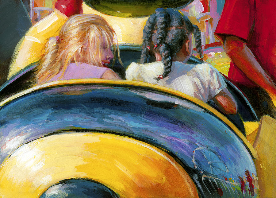 Mr. Bee Takes Some Friends For A Ride by Lesley Spanos