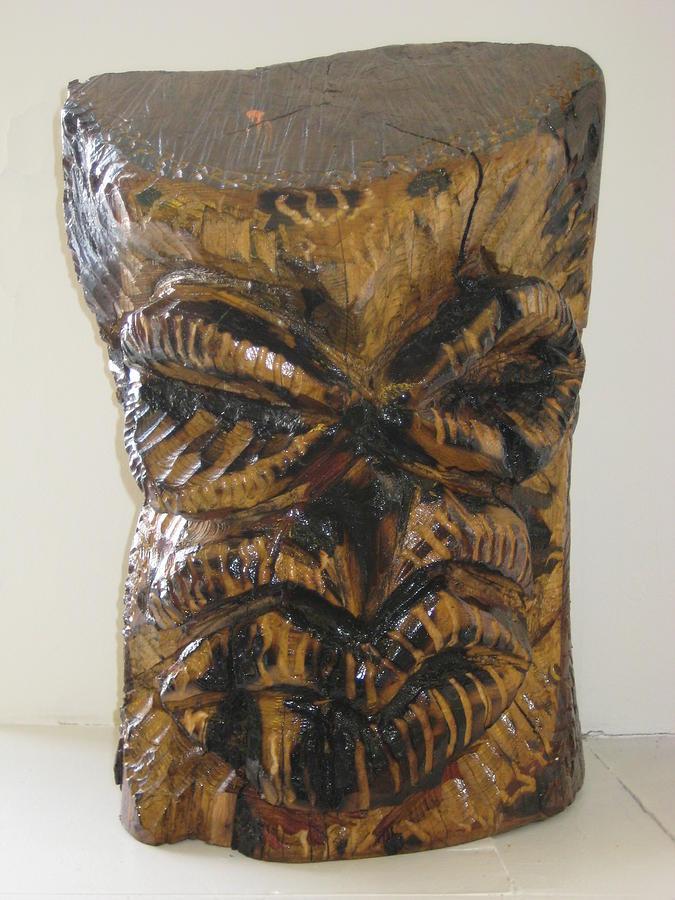 Carved Wood Sculpture - Mr. Bill by Dalushaka Mugwana