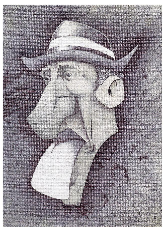 Mr. Bk Drawing by Efrain  Aguilar