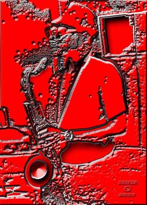 Jazz Digital Art - Mr  Bleeds  Ax by Booker Williams