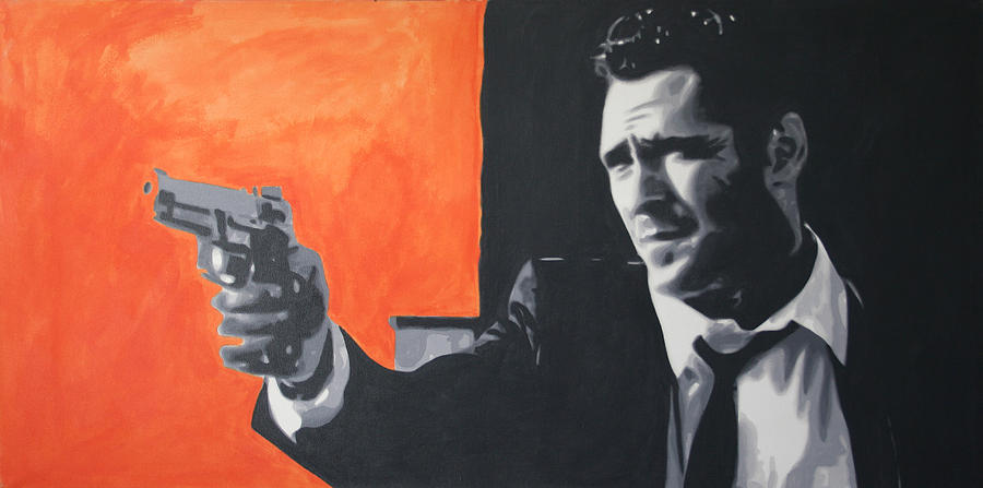 Michael Madsen Painting - Mr Blonde 2013 by Luis Ludzska