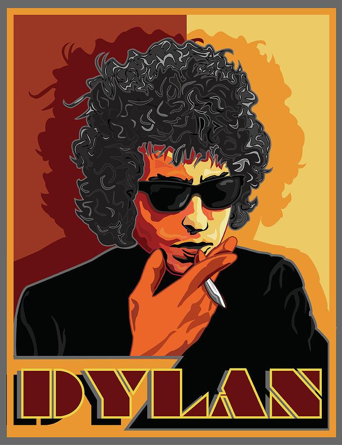 Celebrity Portrait Digital Art - Mr Bob Dylan by Larry Butterworth