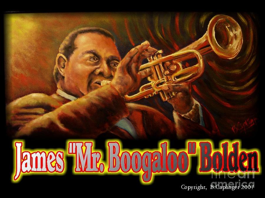 Blues Painting - Mr. Boogaloo by Brett Caplinger