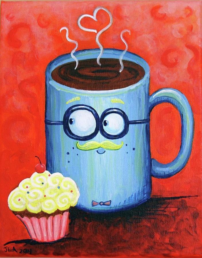 Mr. Painting - Mr. Coffee by Jennifer Alvarez