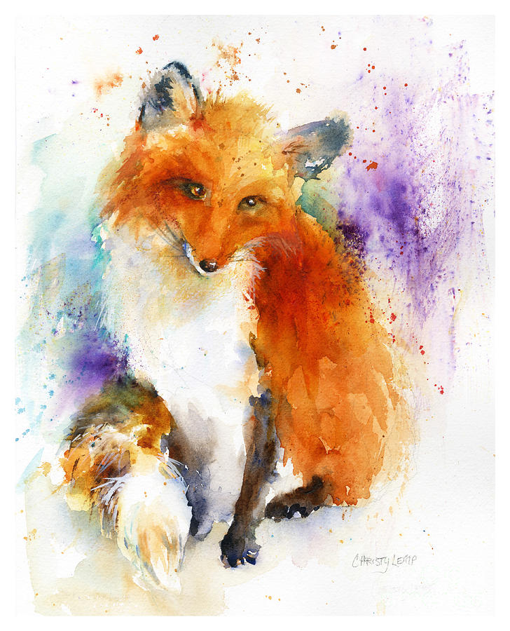 Red Fox Painting - Mr. Fox by Christy Lemp