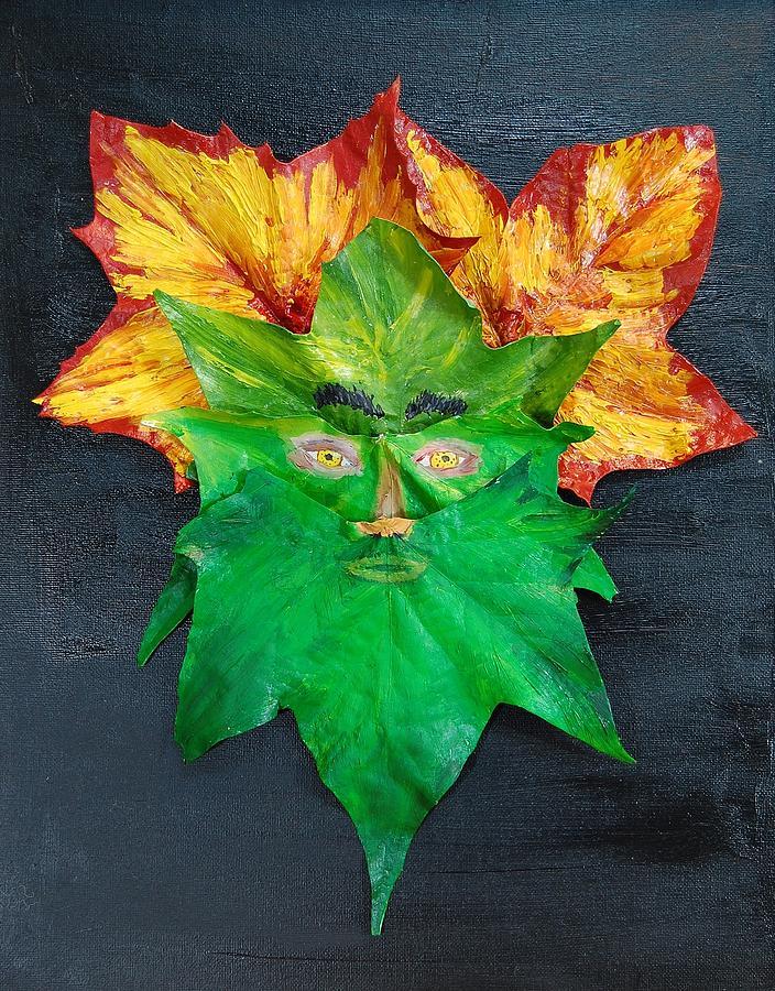 Leaves Mixed Media - Mr. Green by Charla Van Vlack