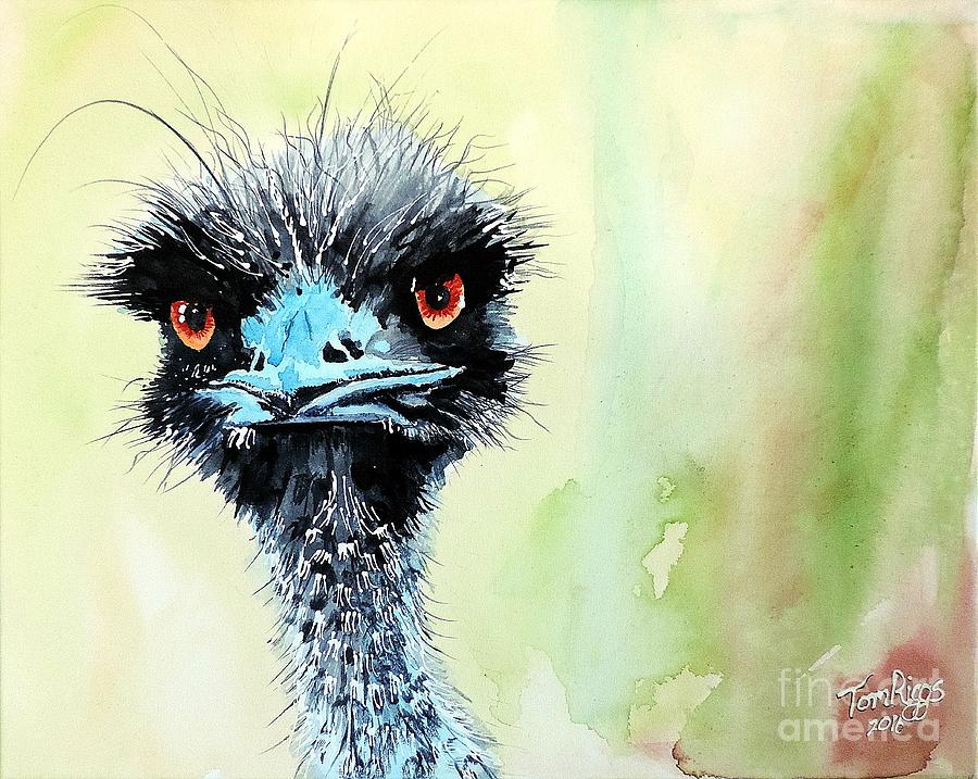 Grumpy Painting - Mr. Grumpy by Tom Riggs