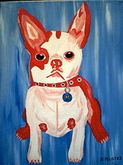 Pet Portraits Painting - Mr. Hudson by Suzanne Filotei