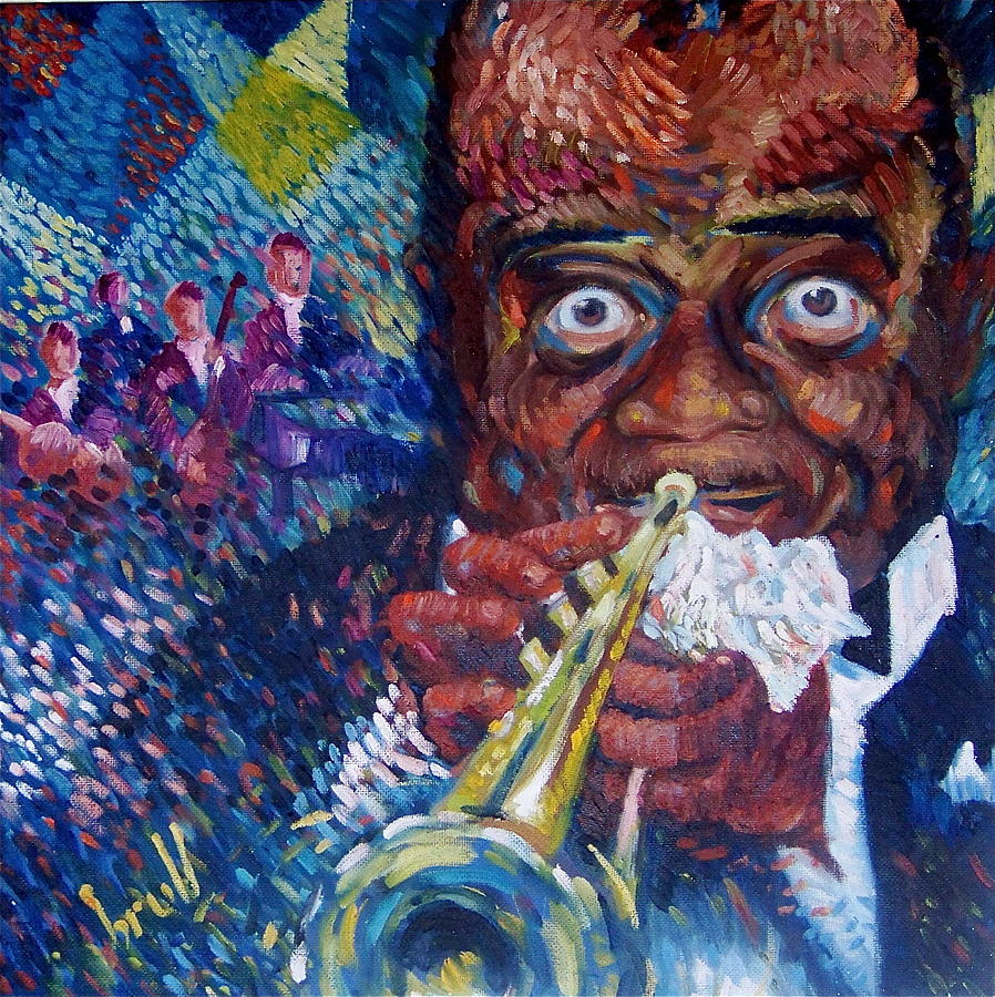 Music Painting - Mr. Jazz by Pedro Brull