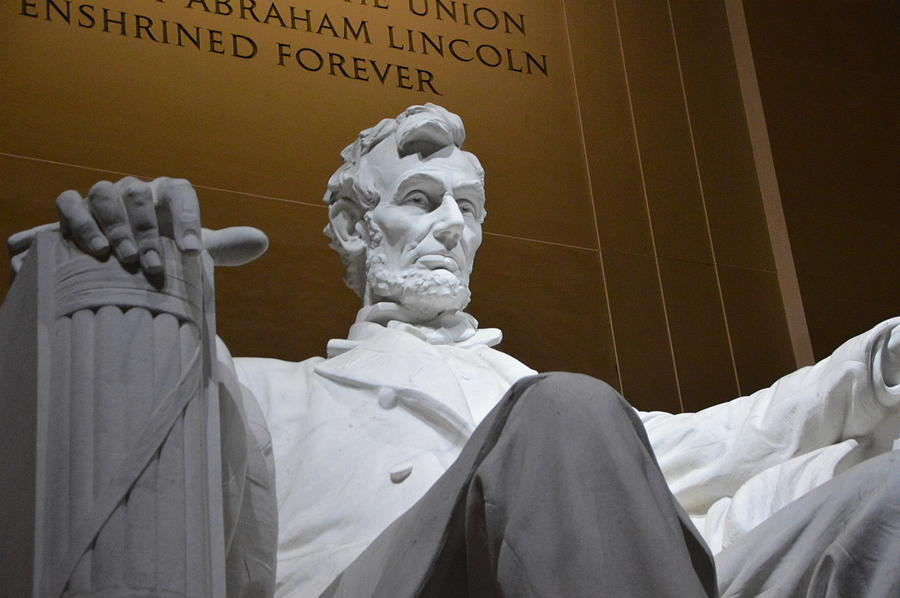 Nations Capital Photograph - Mr. Lincoln by Brian OKelly