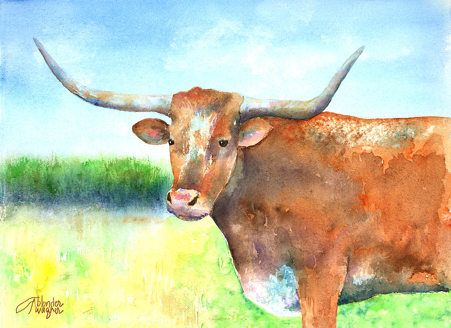 Steer Painting - Mr. Longhorn by Arline Wagner