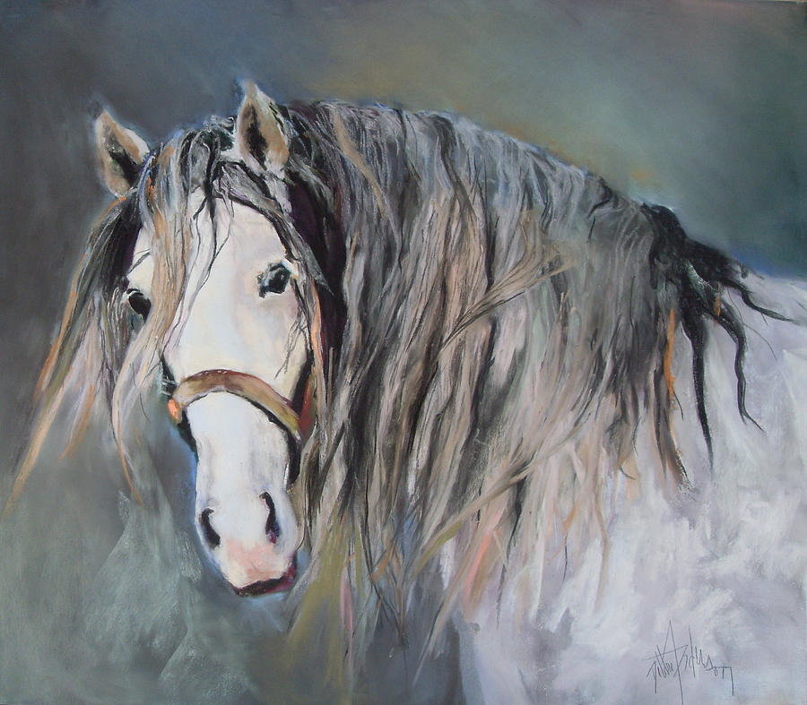 Equestrian Pastel - Mr Magnificent by Debbie Anderson