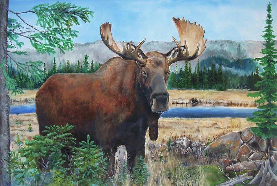 Moose Painting - Mr. Majestic by Joe Baltich