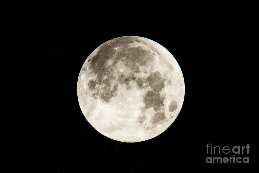 Moon Photograph - Mr. Moon by James Foshee