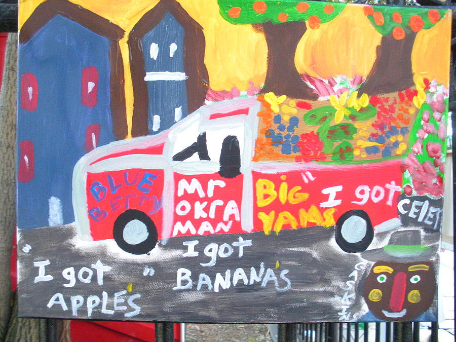 New Orleans Painting - Mr. Okra Man by Terry Gaskins