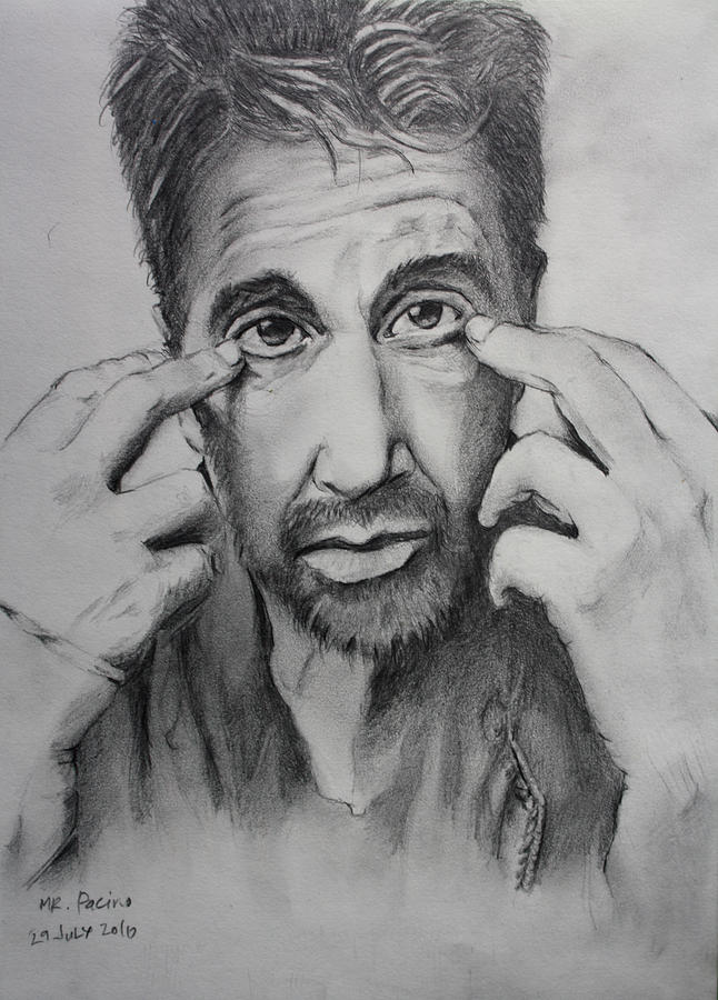 Portrait Drawing Drawing - Mr. Pacino by Ted Castor