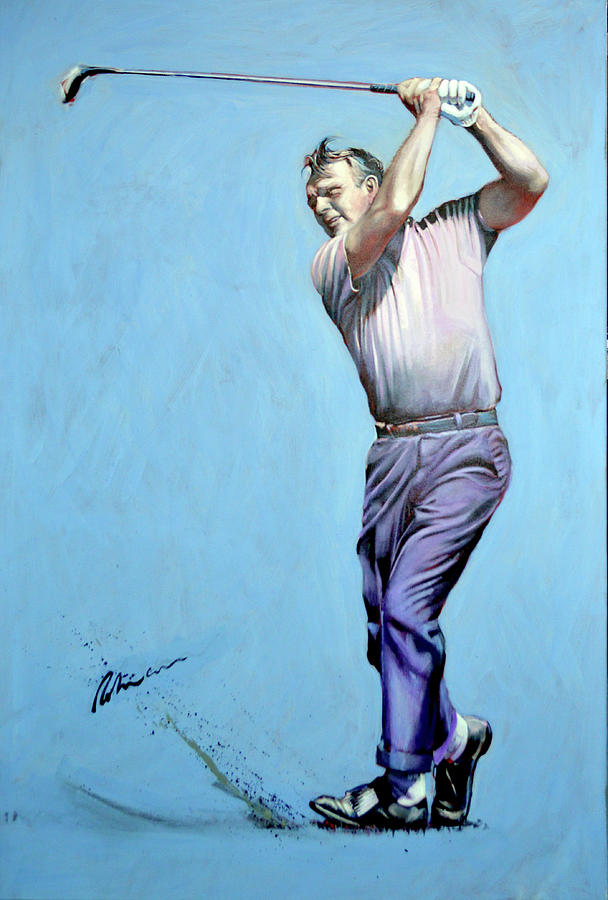 Arnold Palmer Painting - Mr Palmer by Mark Robinson