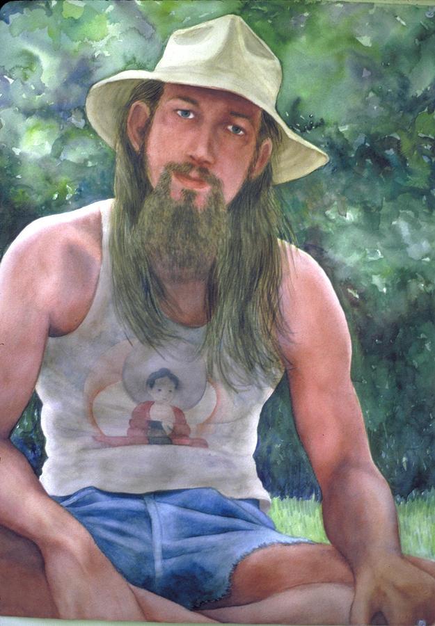 Watercolor Painting - Mr. Pat by Nancy  Ethiel