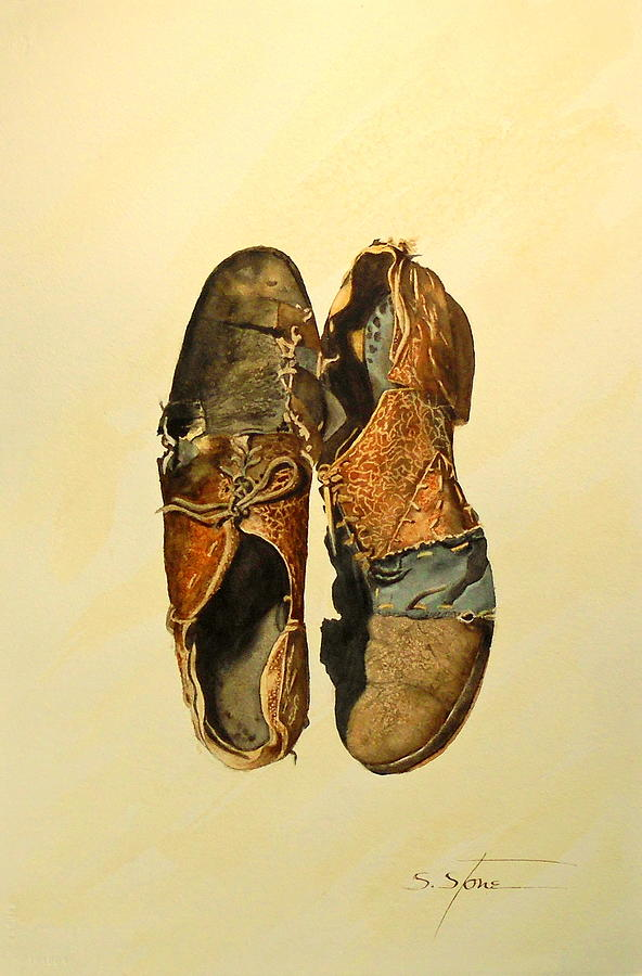 Watercolor Painting - Wear and Repair by Sandra Stone