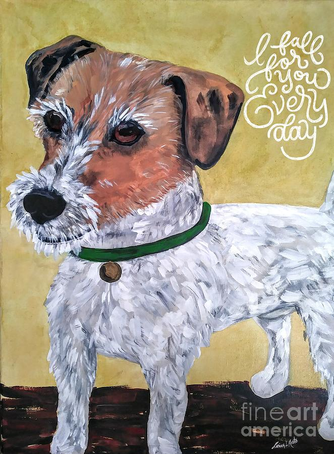 Dogs Painting - Mr. R. Terrier by Reina Resto