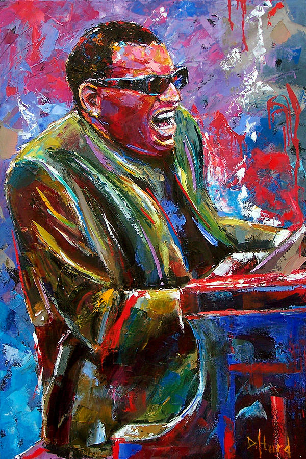 Ray Charles Painting - Mr. Ray by Debra Hurd