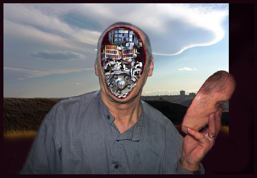 Surrealism Digital Art - Mr. Robot-Otto by Otto Rapp