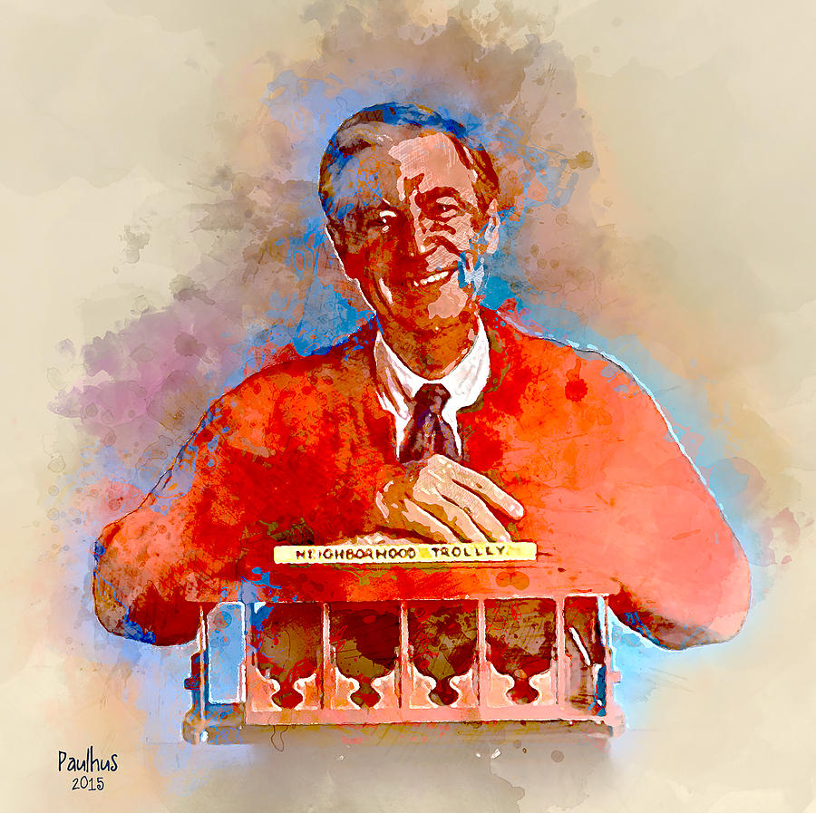People Painting - Mr. Rogers by Michael Paulhus