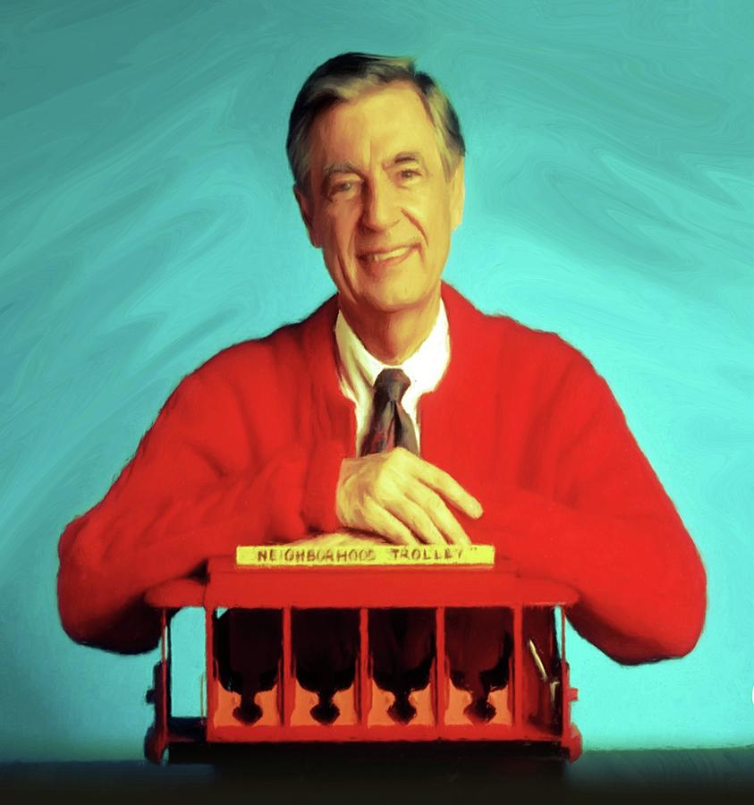 Mr Rogers With Trolley Mixed Media By Movie Poster Prints