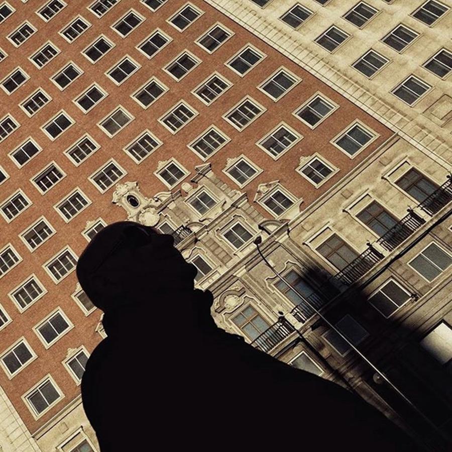 City Photograph - Mr Shapeman  #man #shilouette by Rafa Rivas