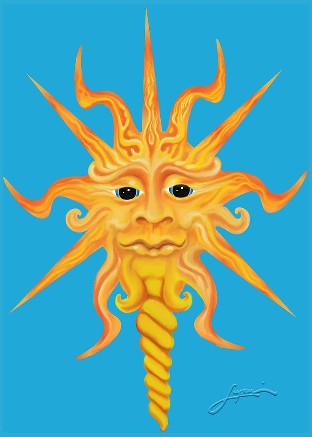 Sun Face Digital Art - Mr. Sunface by Thomas Lupari