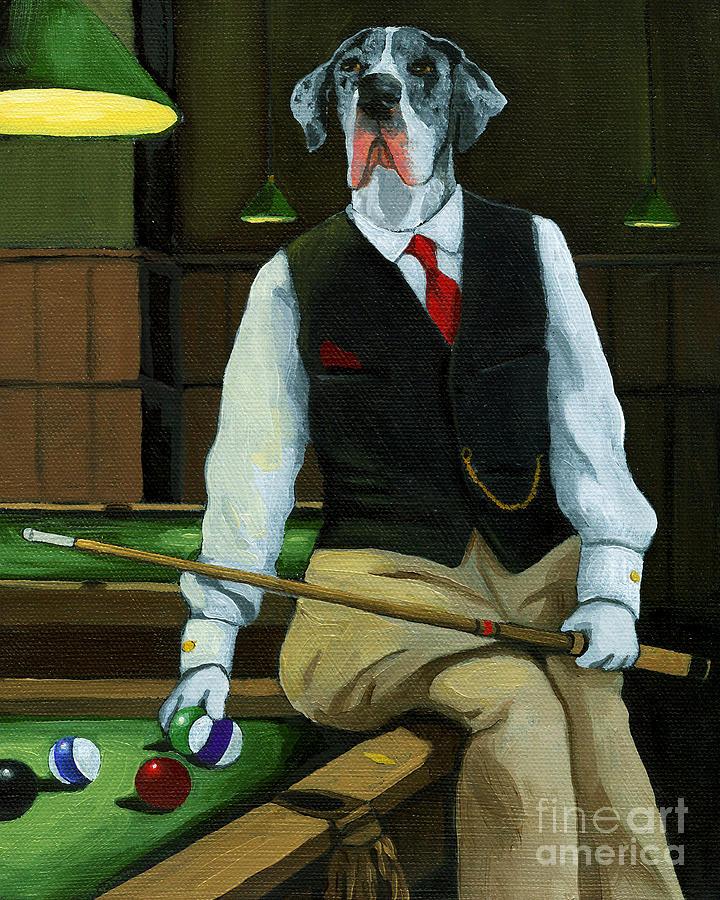 Great Dane Painting - Mr. Thomas Tudor - Great Dane Portrait by Linda Apple