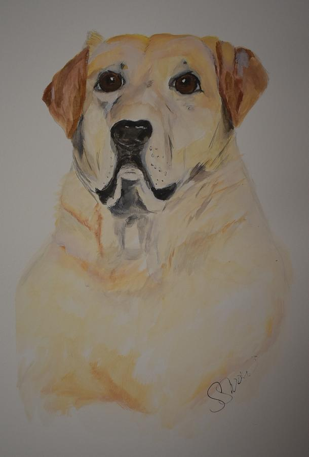 Golden Dog Painting - Mr. Wesley by Susan Voidets