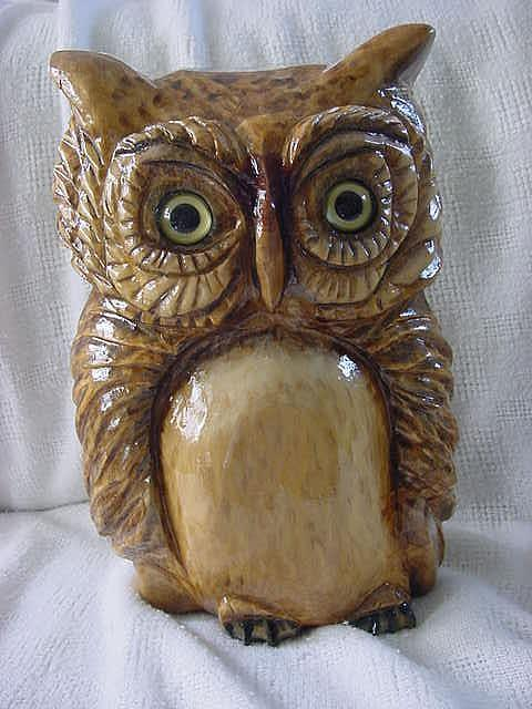 Owls Mixed Media - Mr. Who-solid Wooden Owl by Lisa Ruggiero