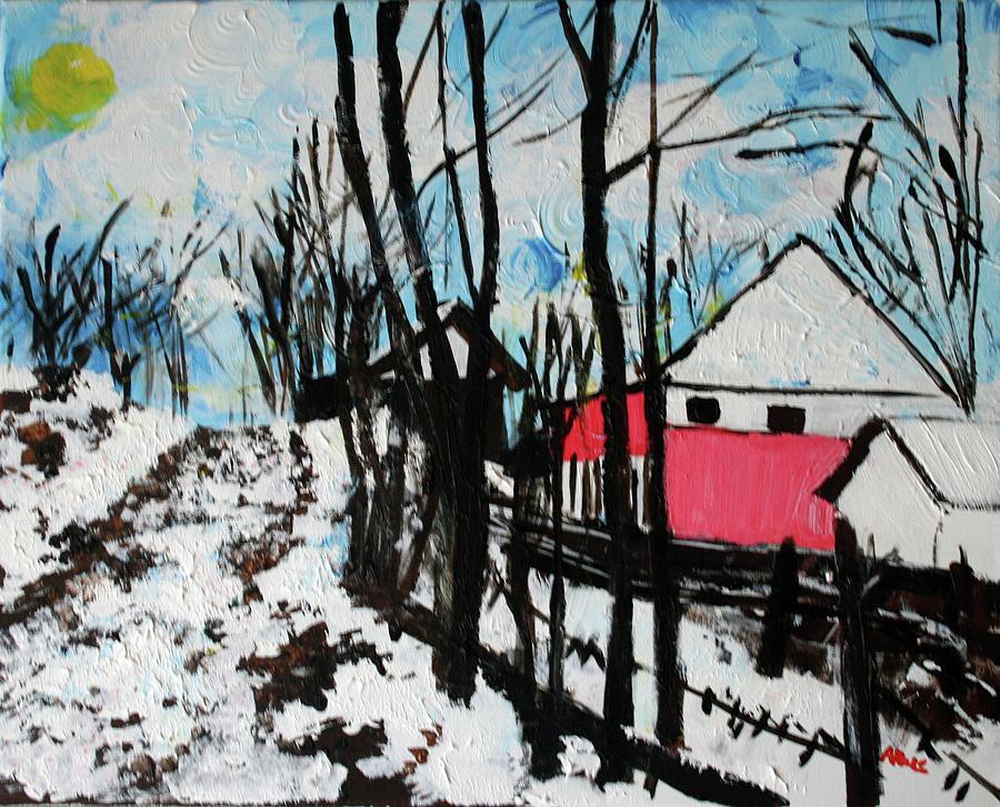 Village Painting - Mrkovici Village 201830 by Alyse Radenovic