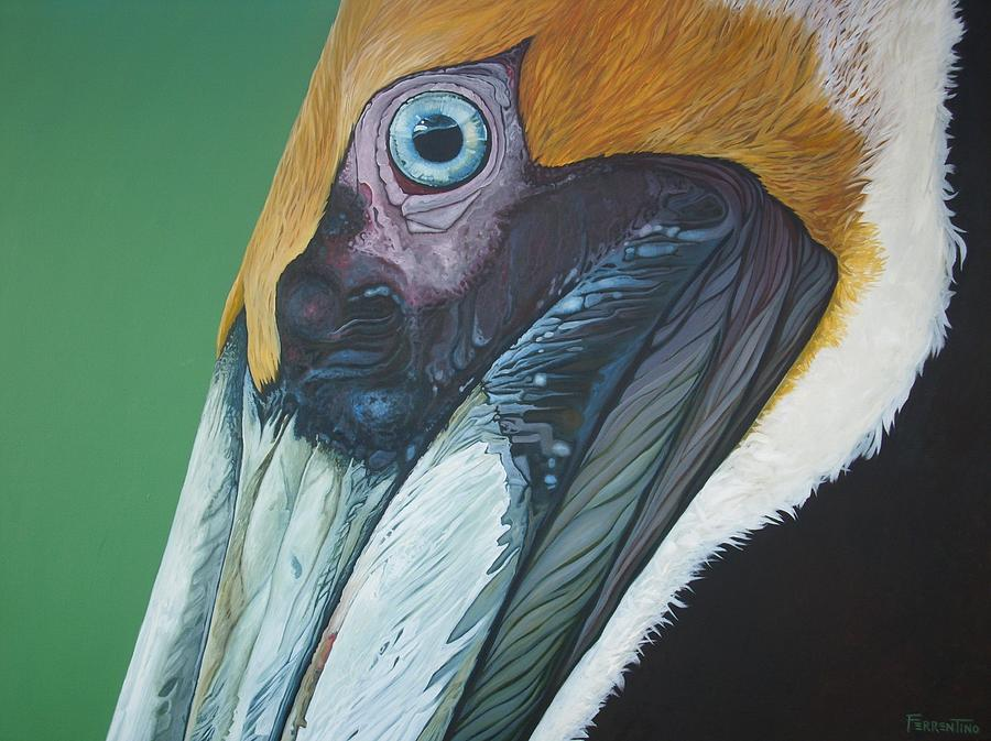 Pelican Painting - Mr.pelican by Jon Ferrentino