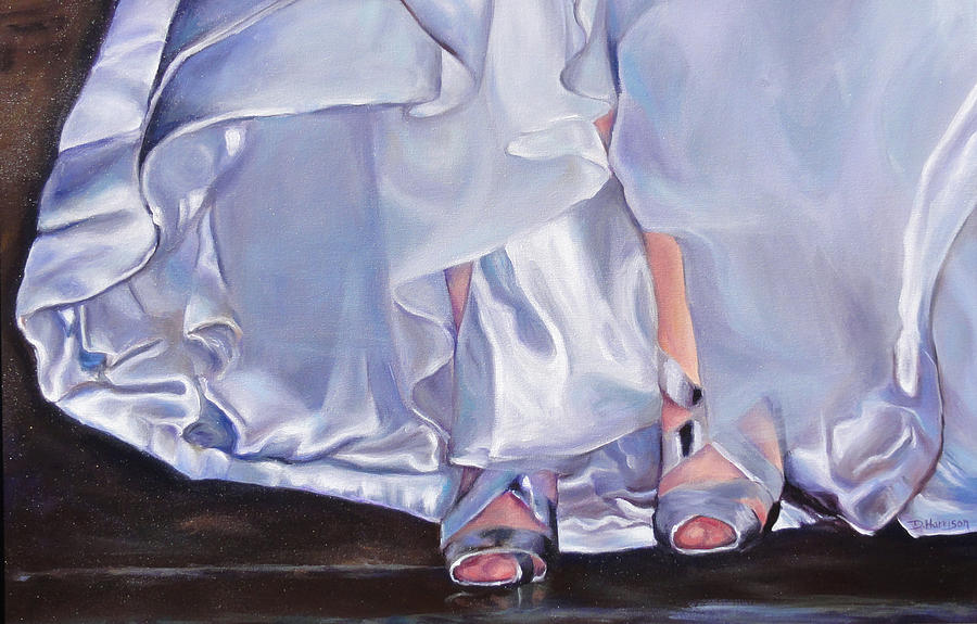 Wedding Painting - Mrs Beetose by Denise H Cooperman