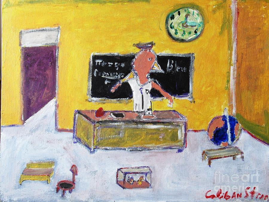 Kindergarten Painting - Mrs. Bird by Caliban Strange