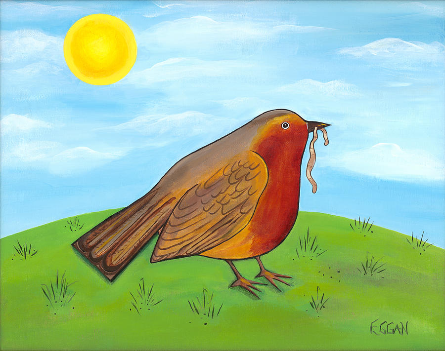 Robin Painting - Mrs. Robin by Michelle  Eggan