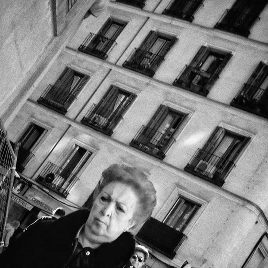 Madrid Photograph - Mrs. Serious  #lady #woman #people by Rafa Rivas