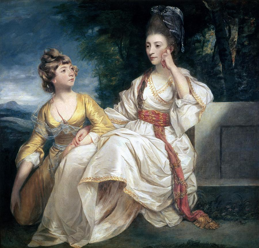 Mrs Painting - Mrs Thrale And Her Daughter Hester by Sir Joshua Reynolds