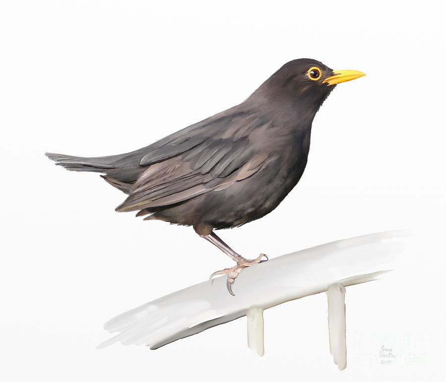 Painting Painting - Ms. Blackbird Is Brown by Ivana Westin