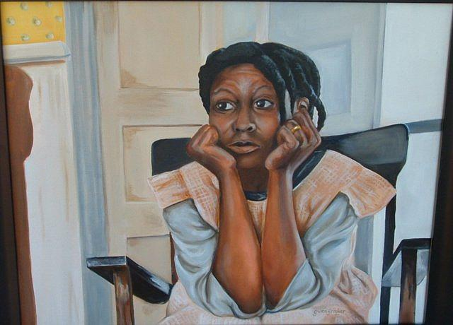 Portrait Painting - Ms Celie by Gwendolyn Frazier