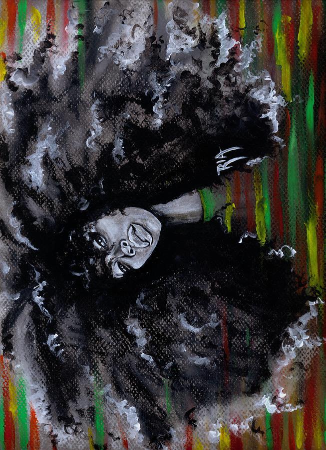 Erykah Badu Painting - Ms Erykah Badu To You Fool by Artist RiA