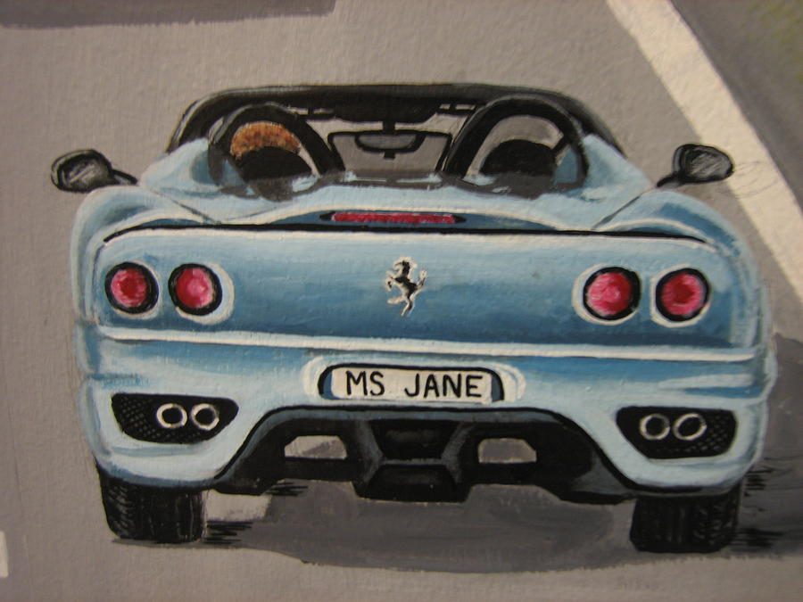 Ms. Janes Ferrari  Painting by Jessica  Dyrli Campbell