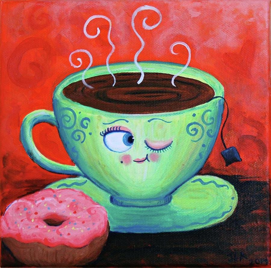 Ms Painting - Ms Tea by Jennifer Alvarez