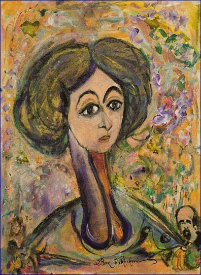 Modern Painting - Ms Tery by Boz  Vakhshori