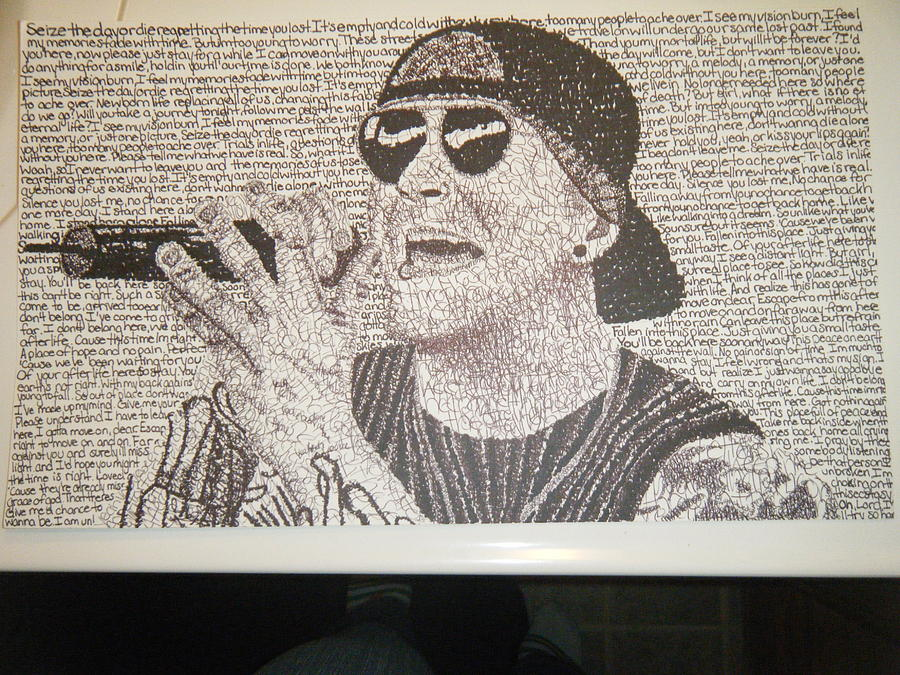 M.shadows Drawing - M.shadows by Autumn Myers