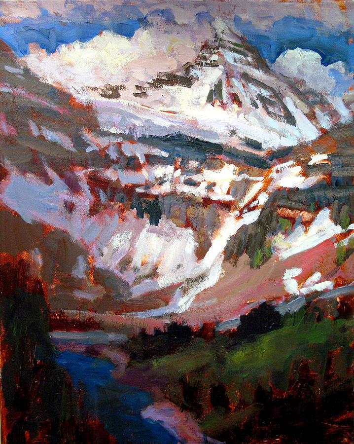 Landscape Paintings Painting - Mt. Assiniboine by Brian Simons